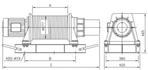 Comeup Grooved Electric Winches CEP2000